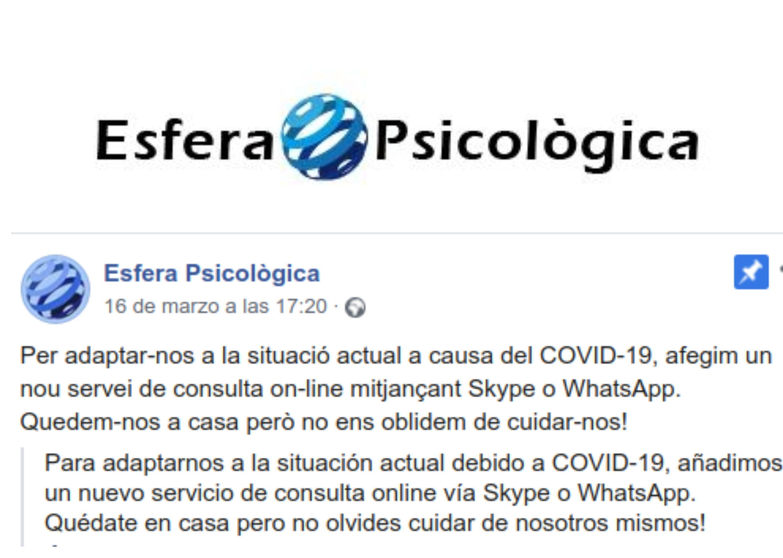 Foto 6 de Psicología en  | Esfera Psicològica