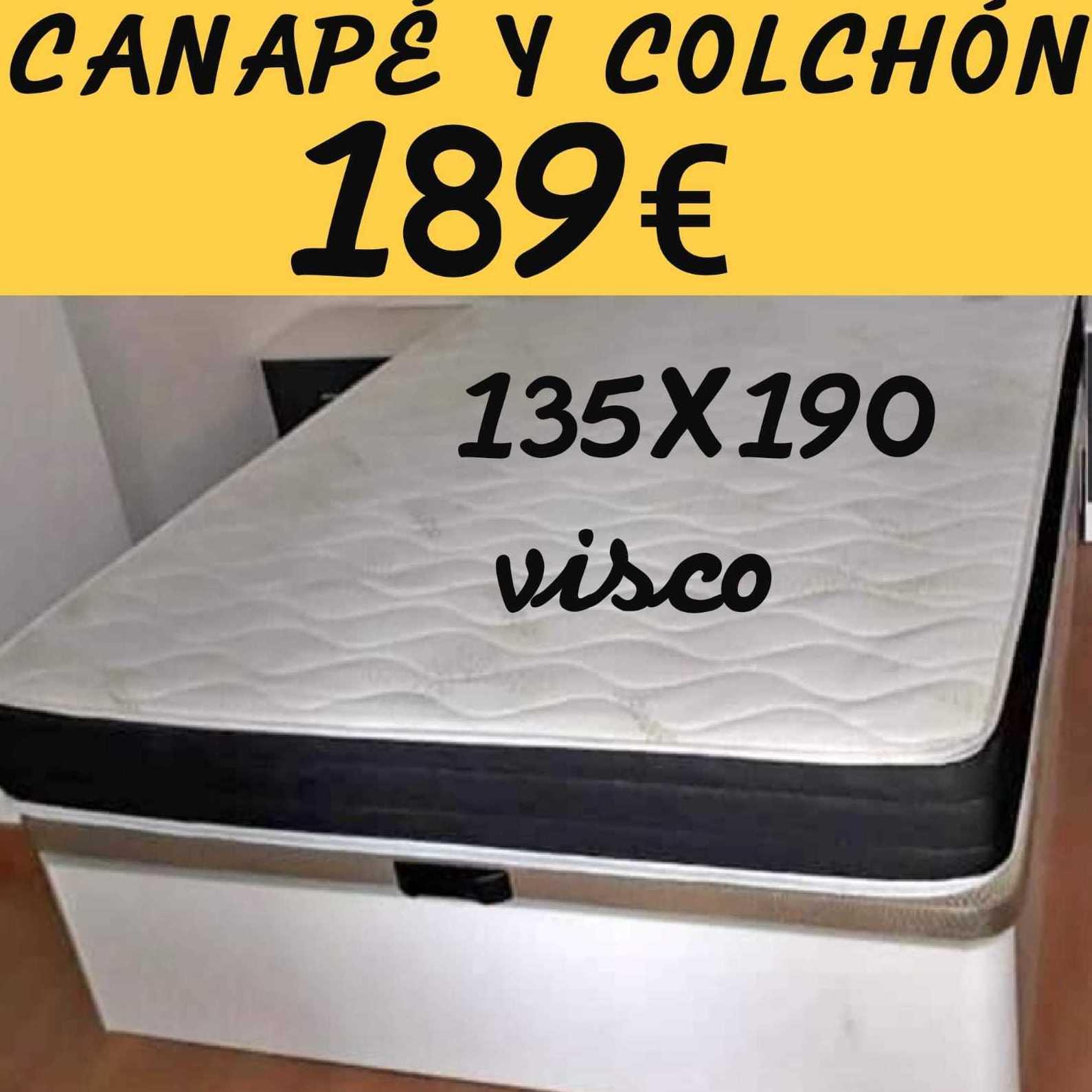 Oferta de colchón y canapé en Madrid