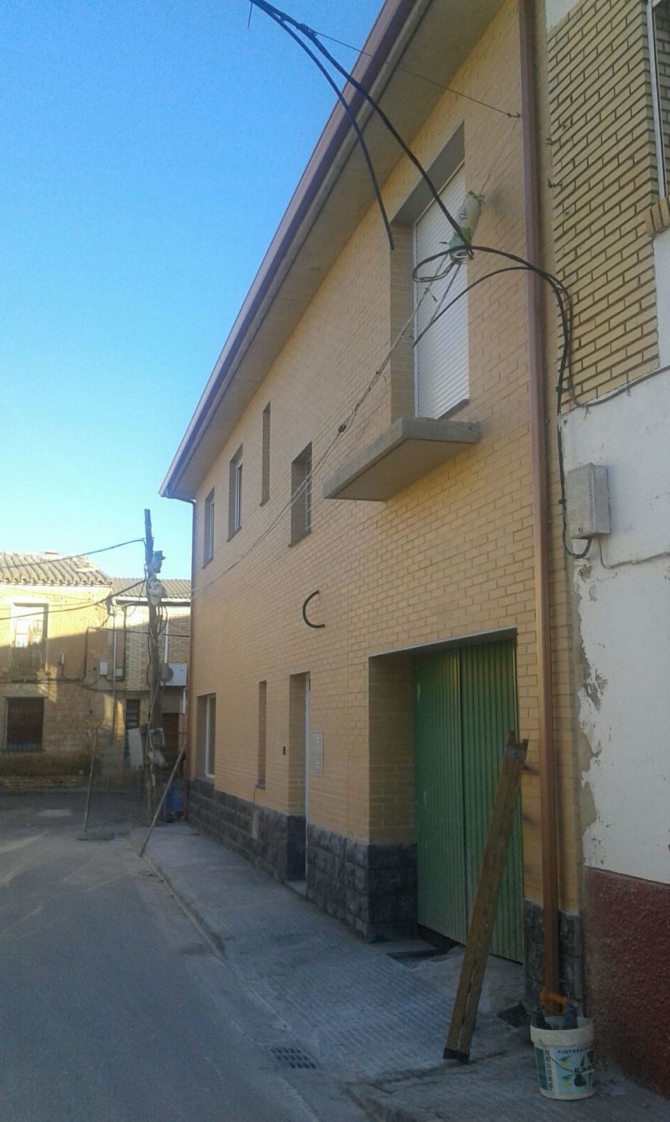 Bajantes de agua en fachadas