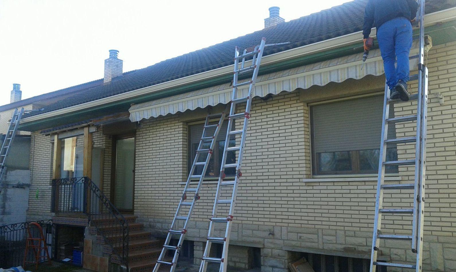 instalación de canalones tejados