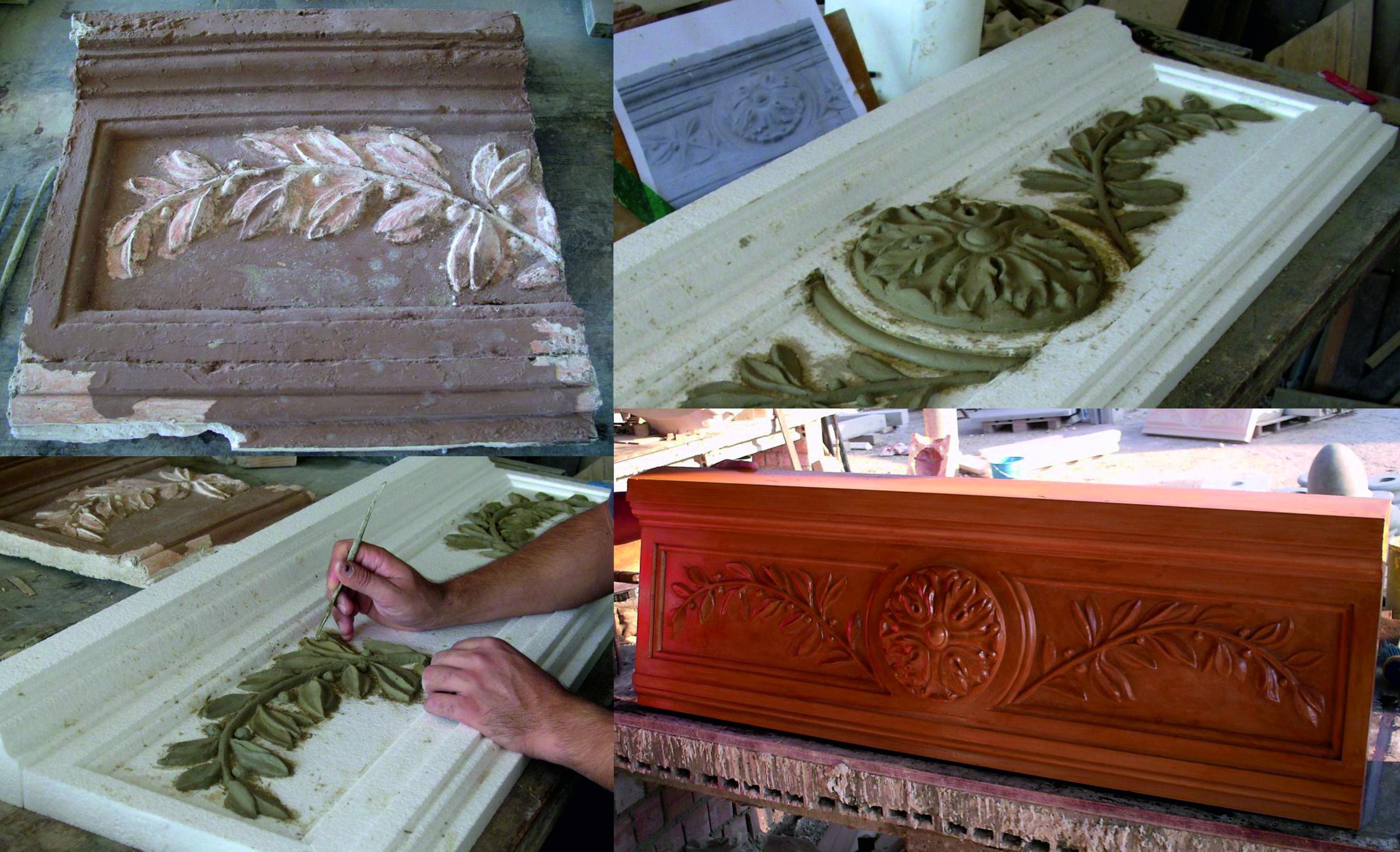 Restauración de molduras del ayuntamiento de Moguer