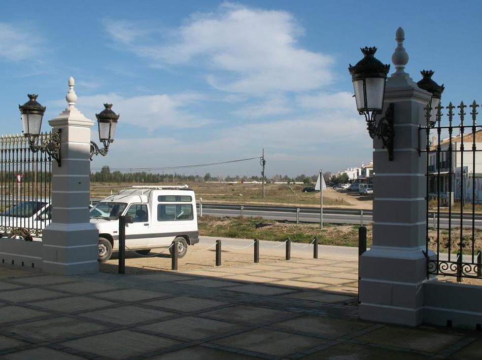 Entrada al Hotel Pequeño Rocío, El Rocío