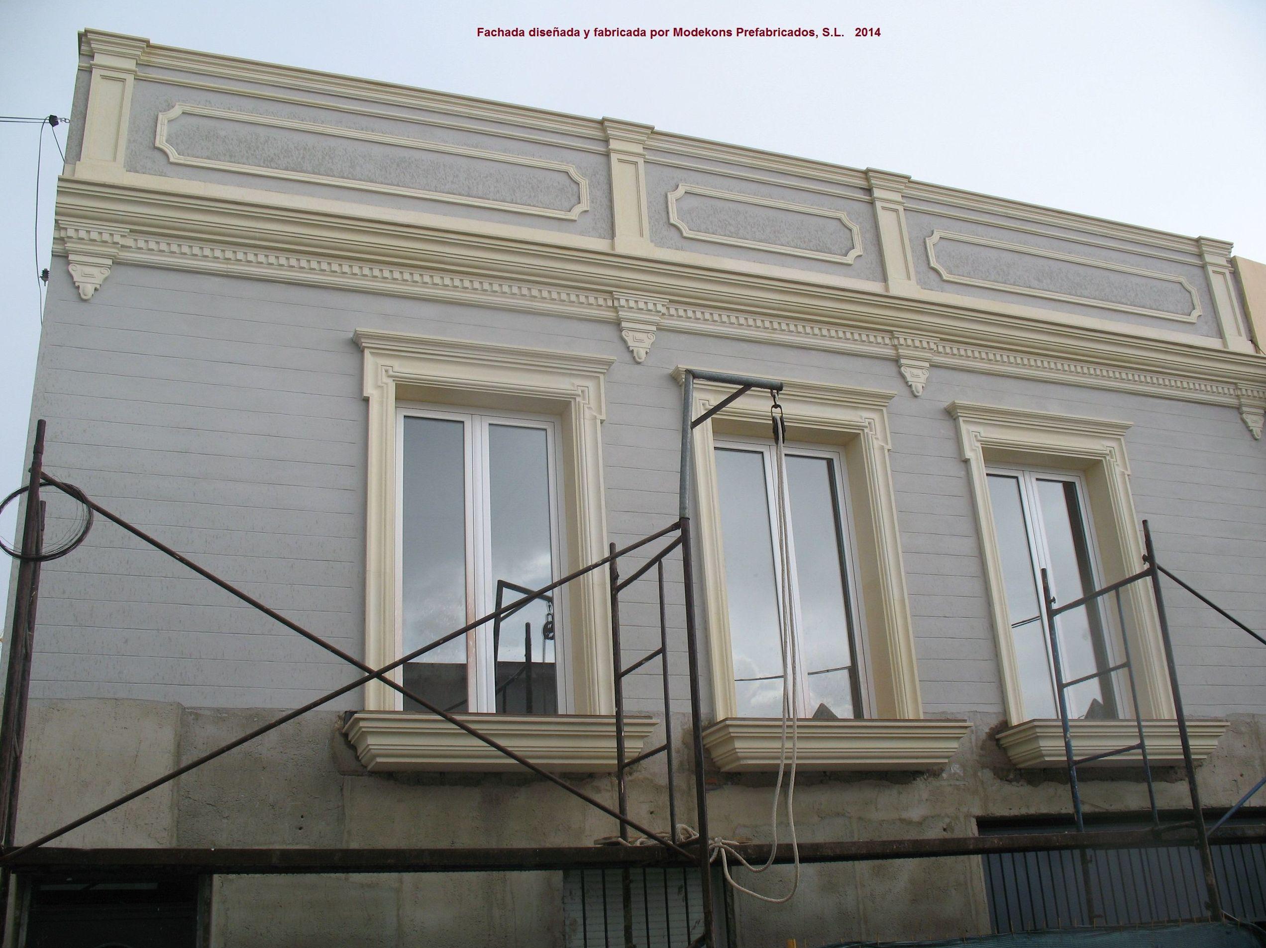 Trabajos de revestimiento de fachadas