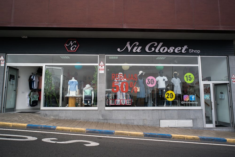 Fachada de una tienda en Las Palmas