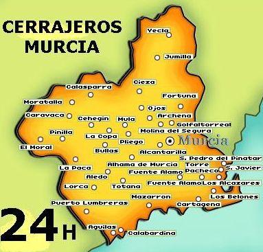Trabajamos en toda Murcia y sus poblaciones