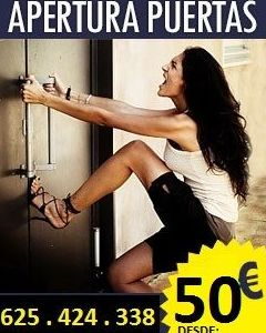 Apertura de Puertas desde 50 €, pídanos precio para su zona. 625.424..338 (Servicio 24 Horas)
