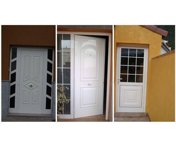Gran variedad de puertas de aluminio blanco para la vivienda