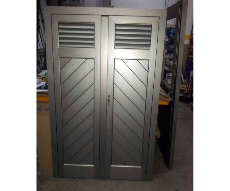 Puerta de aluminio a medida