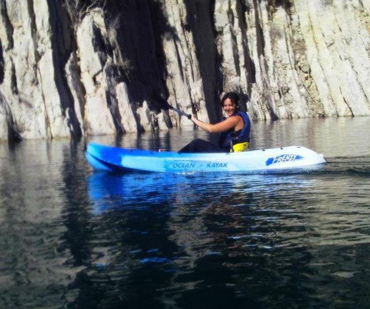 Travesía en kayak en el Embalse