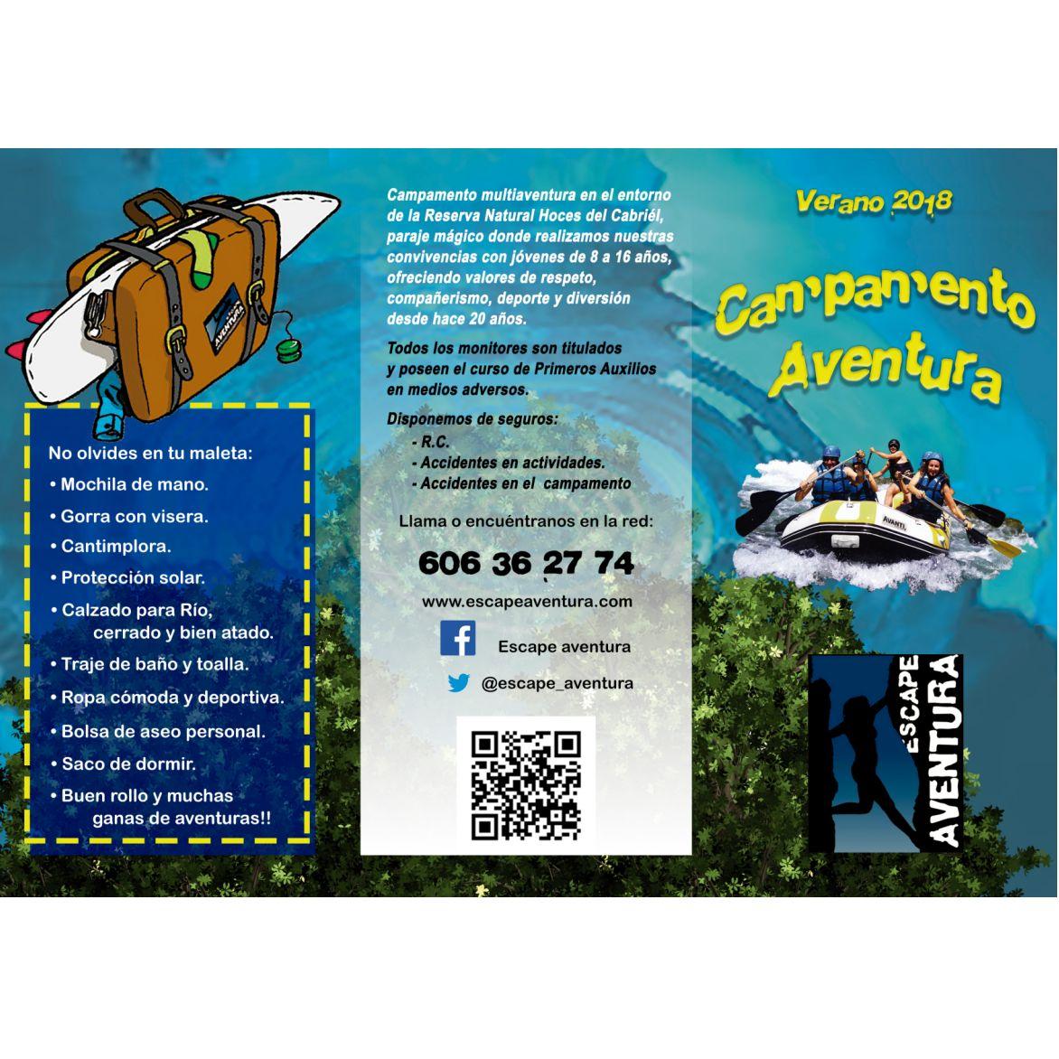 Programación semanal de nuestros campamentos: Servicios de ESCAPE AVENTURA