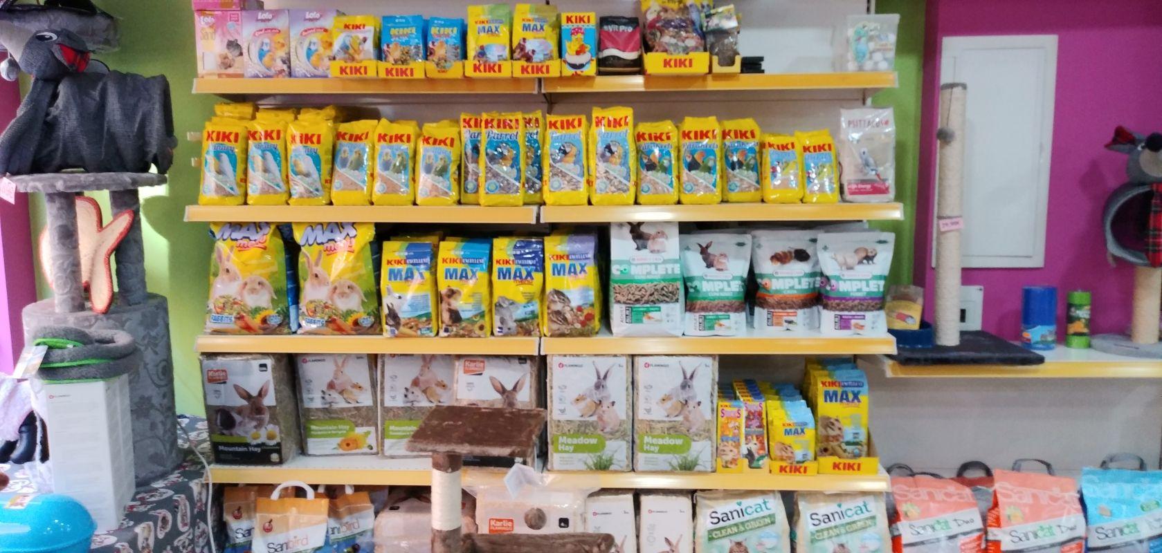 Tienda con alimentación para peces en Valladolid
