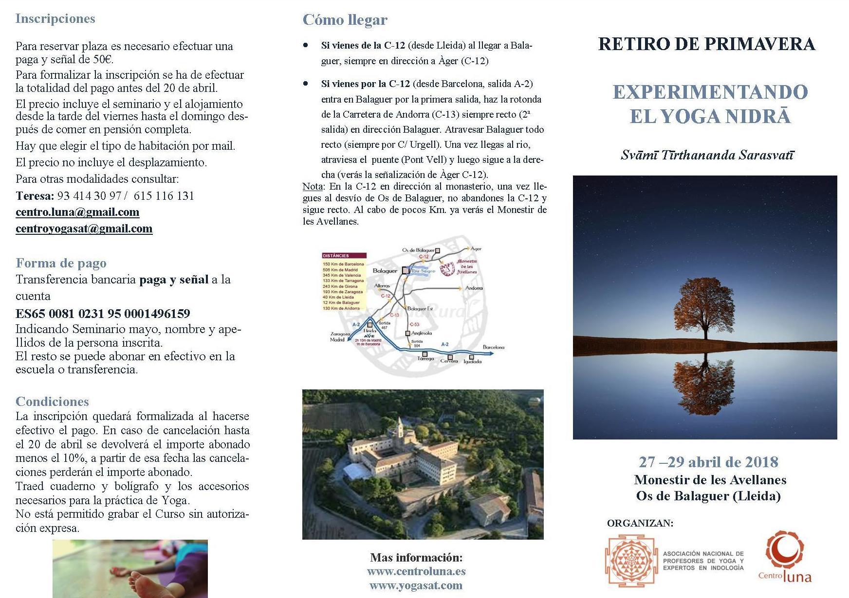 RETIRO DE YOGA - EXPERIMENTANDO EL YOGA NIDRA