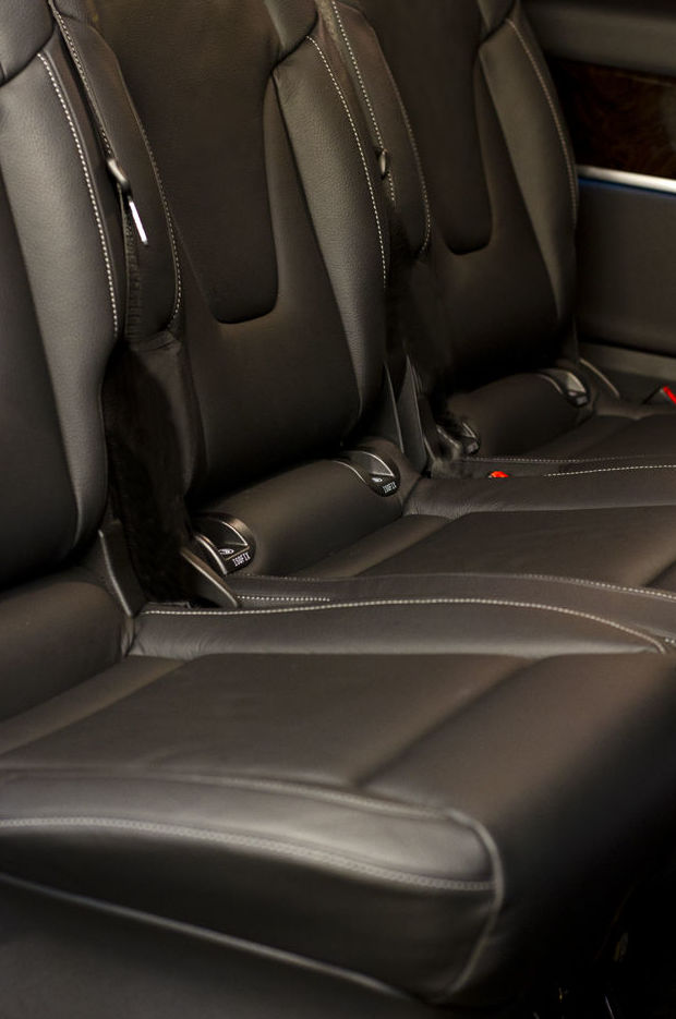 Comfortable seats of the car interior