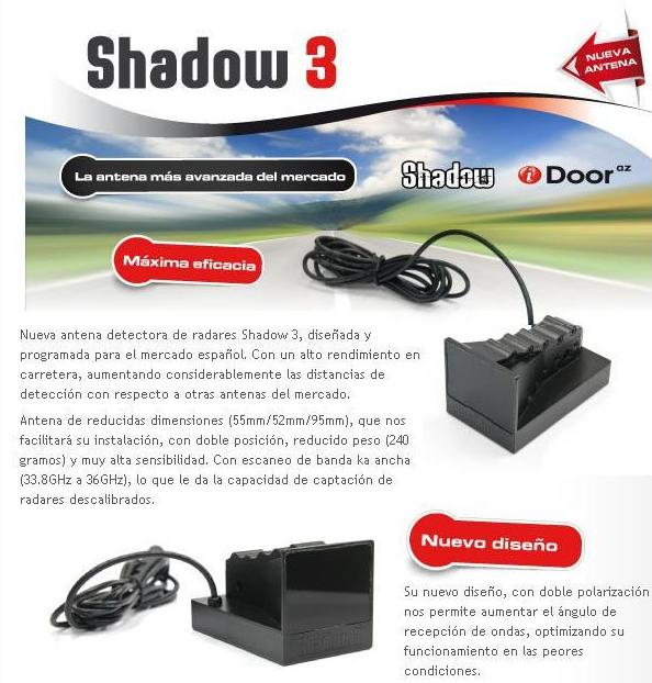 Detector de Radar Indetectable SHADOW3: Productos de Sonivac