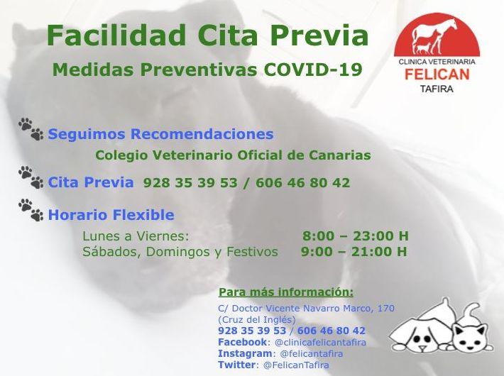 Facilidad Cita Previa - Medidas Preventivas COVID-19
