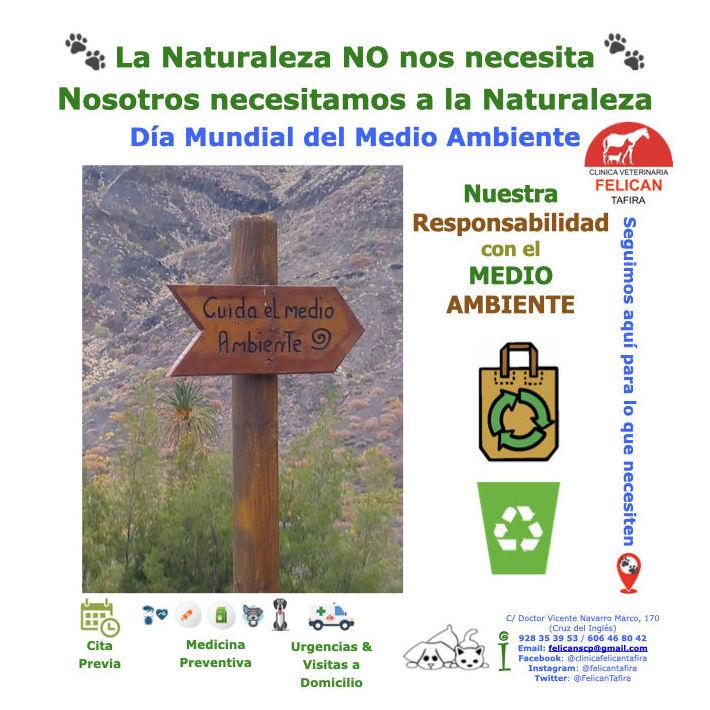 La Naturaleza NO nos necesita Nosotros necesitamos a la Naturaleza Día Mundial del Medio Ambiente