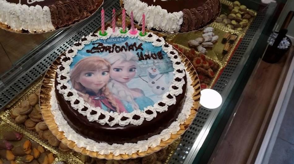 Tartas para cumpleaños con motivos de Frozen