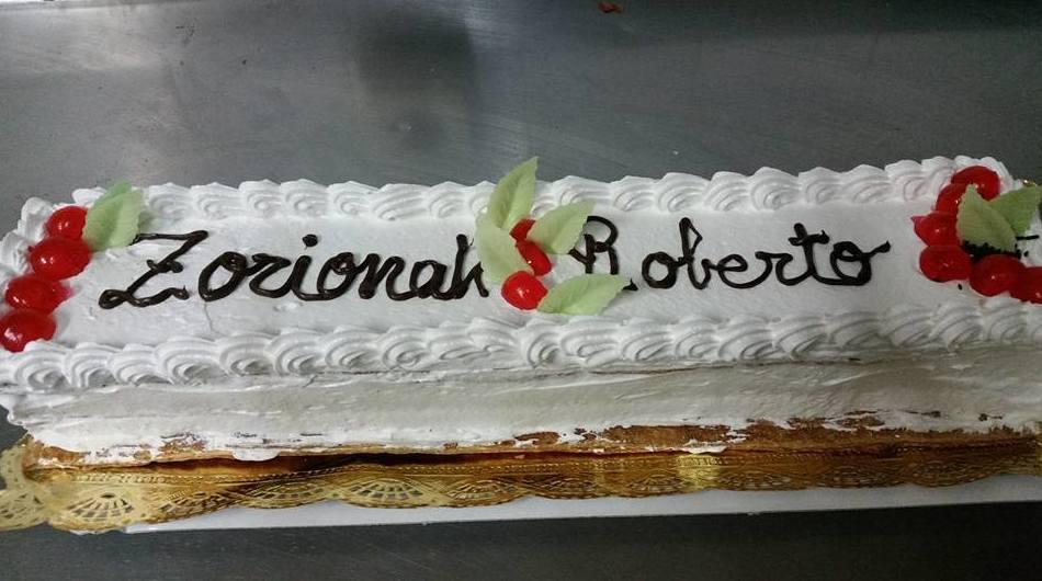 Pastel para cumpleaños de nata