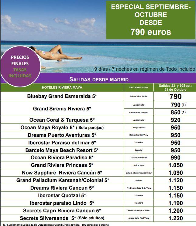 Riviera Maya: OFERTAS de Viajes Global Sur