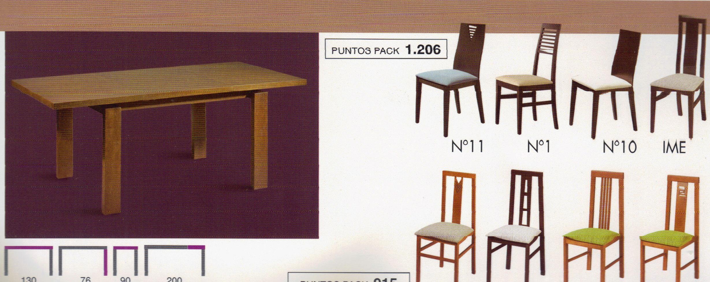 Mesa y sillas: Productos y servicios de Ahorra Mobel