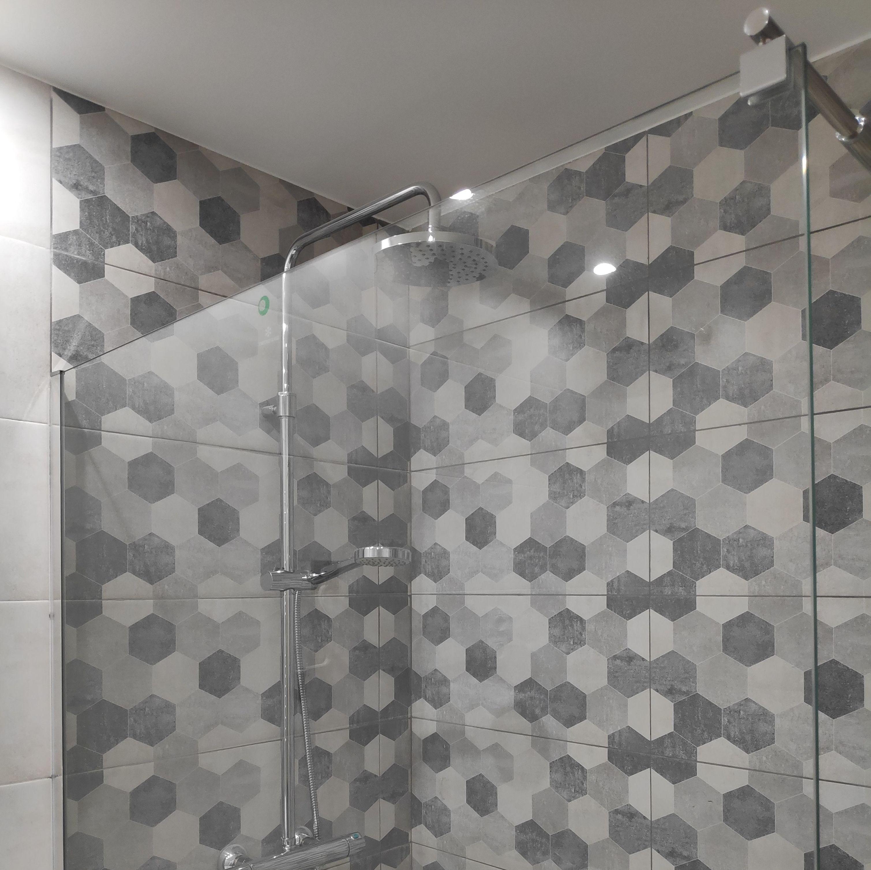 Decorados en el interior de la ducha