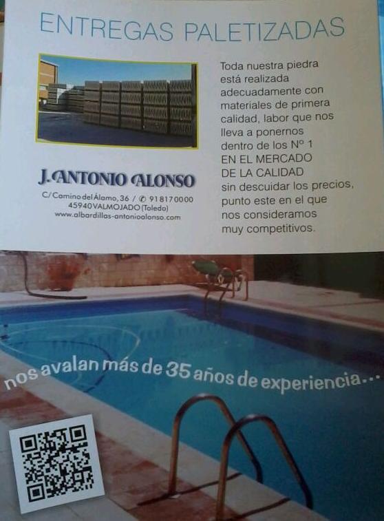 Entregas peletizadas: Productos y Servicios de Bordes de Piscinas J. Antonio Alonso