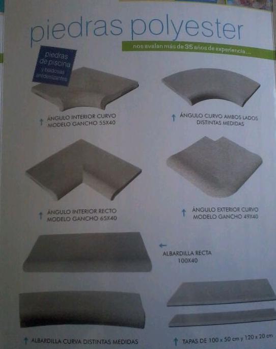 Piedras Poliéster : Productos y Servicios de Bordes de Piscinas J. Antonio Alonso