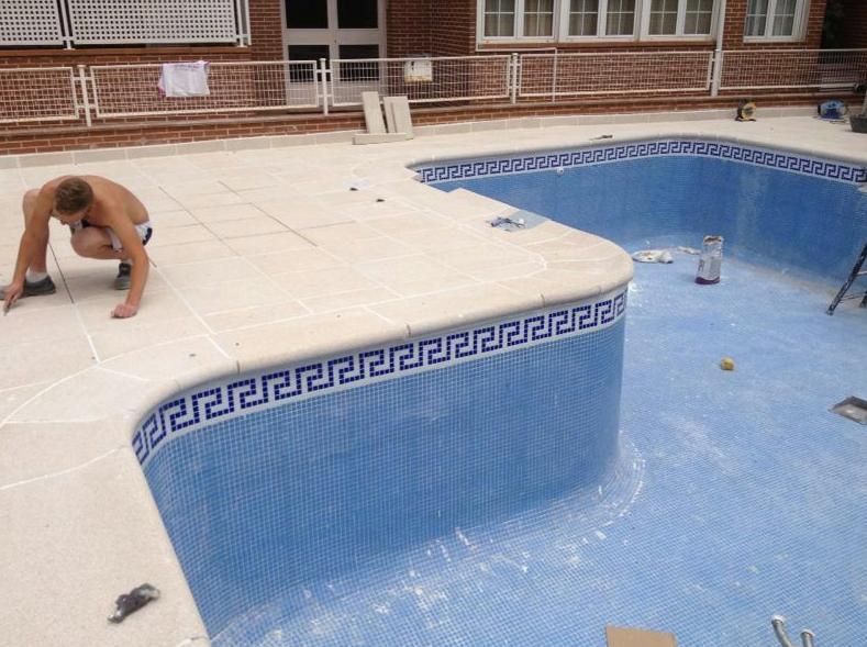 instalacin de piedras de piscina en bordes de piscinas j antonio alonso - Bordes De Piscinas