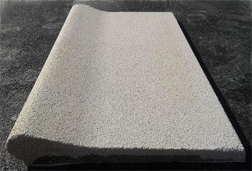 Albardilla recta 100x50 de pecho paloma