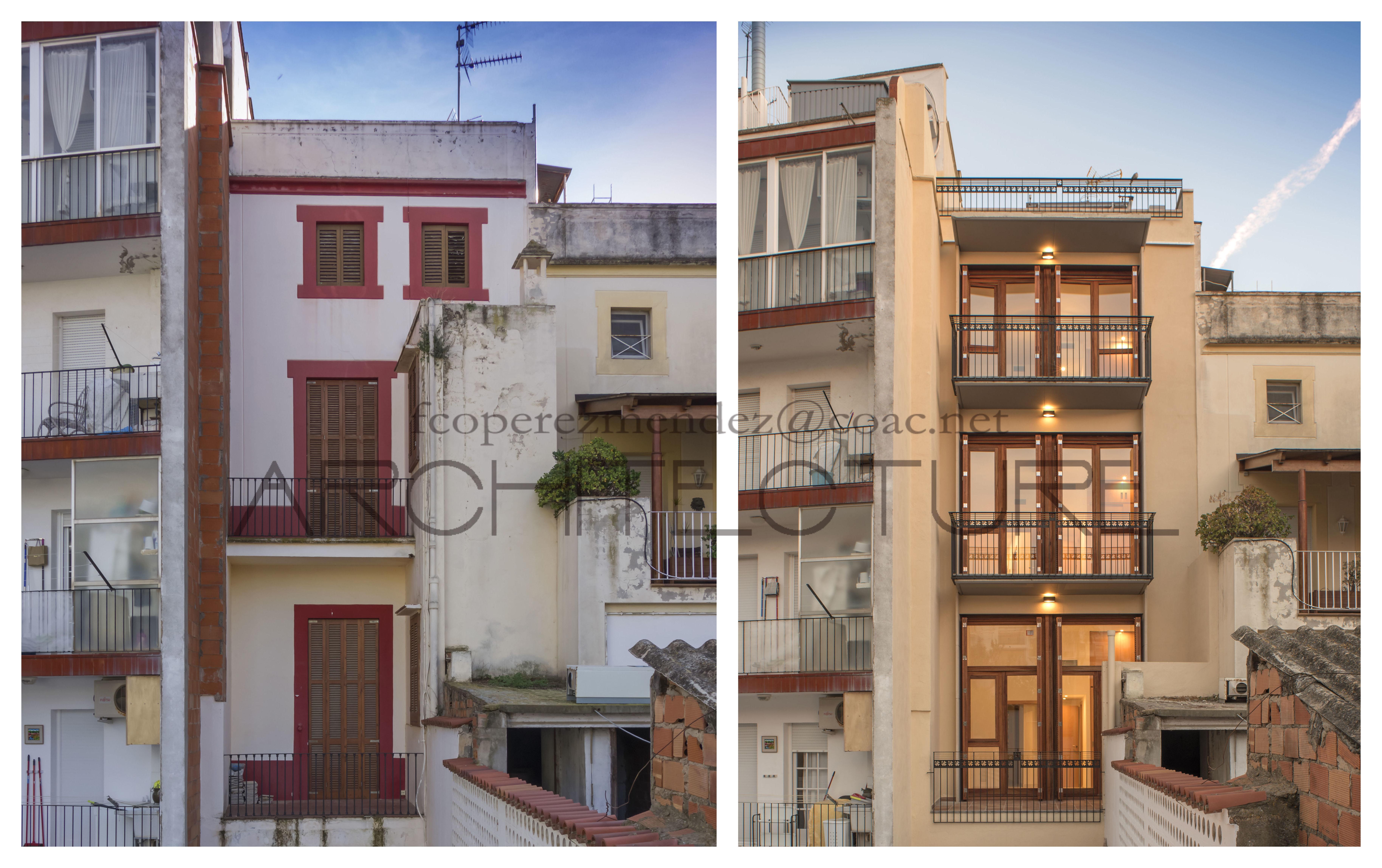 Antes y Después. Proyecto Paseo de la Ribera. Sitges. Barcelona.-