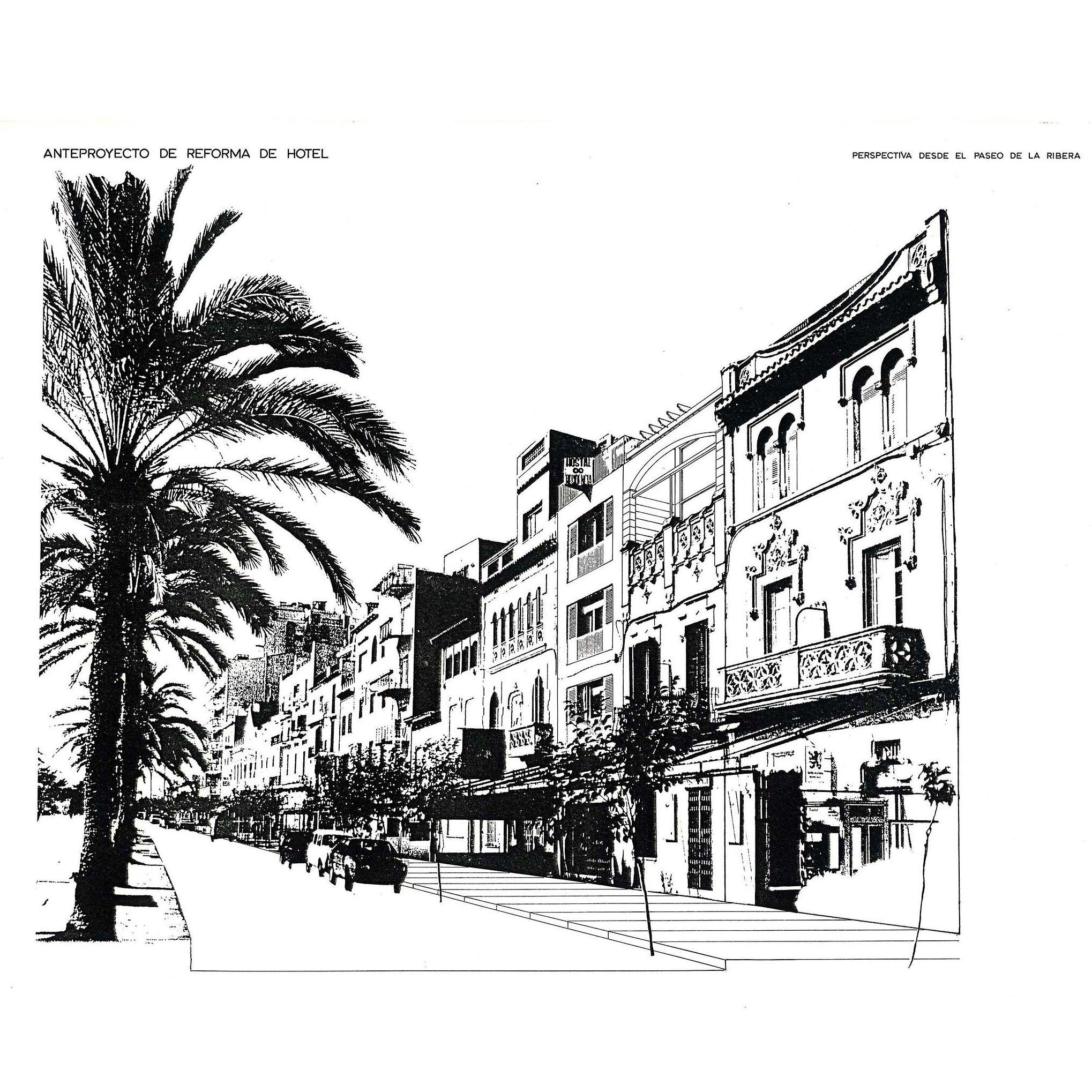 Hotel Santa Maria   #paseodelaribera #sitges #fpmarquitectura #1986 #acuarela watercolor #ink