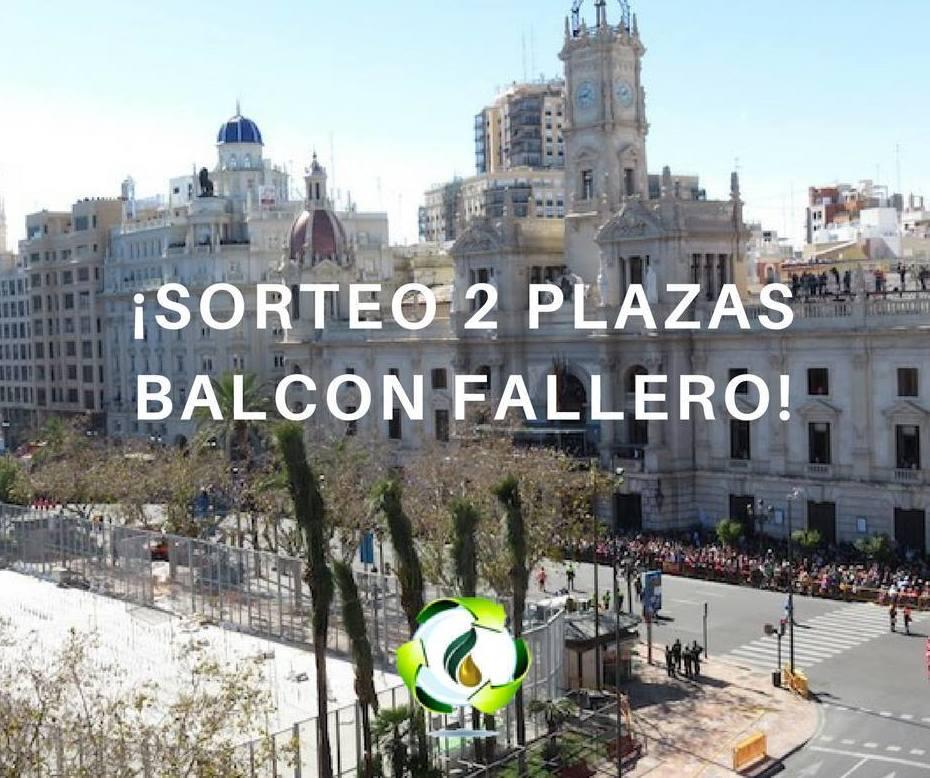 Sorteo balcon fallero Fallas Valencia 2018