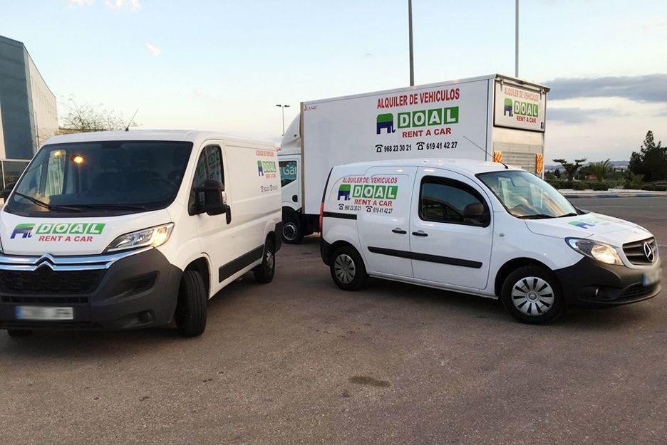 Alquiler de vehículos comerciales en Murcia