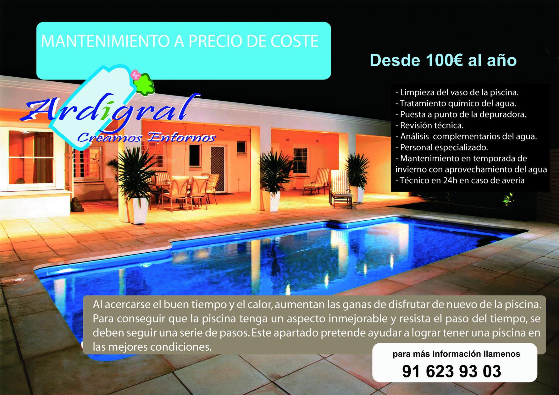 Mantenimiento de piscinas a precio de coste - Coste mantenimiento piscina ...