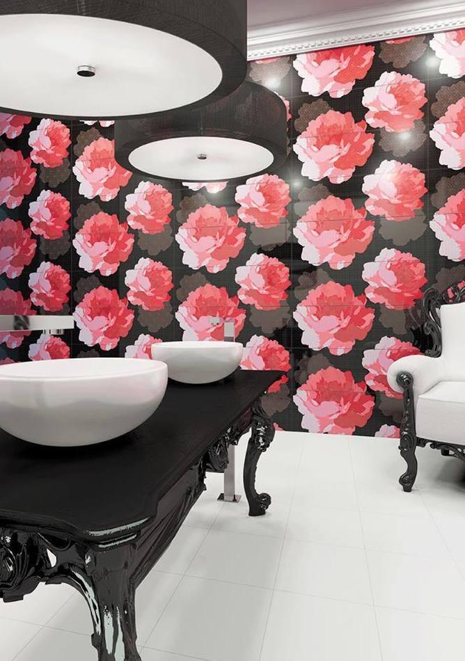Azulejos con motivos florales