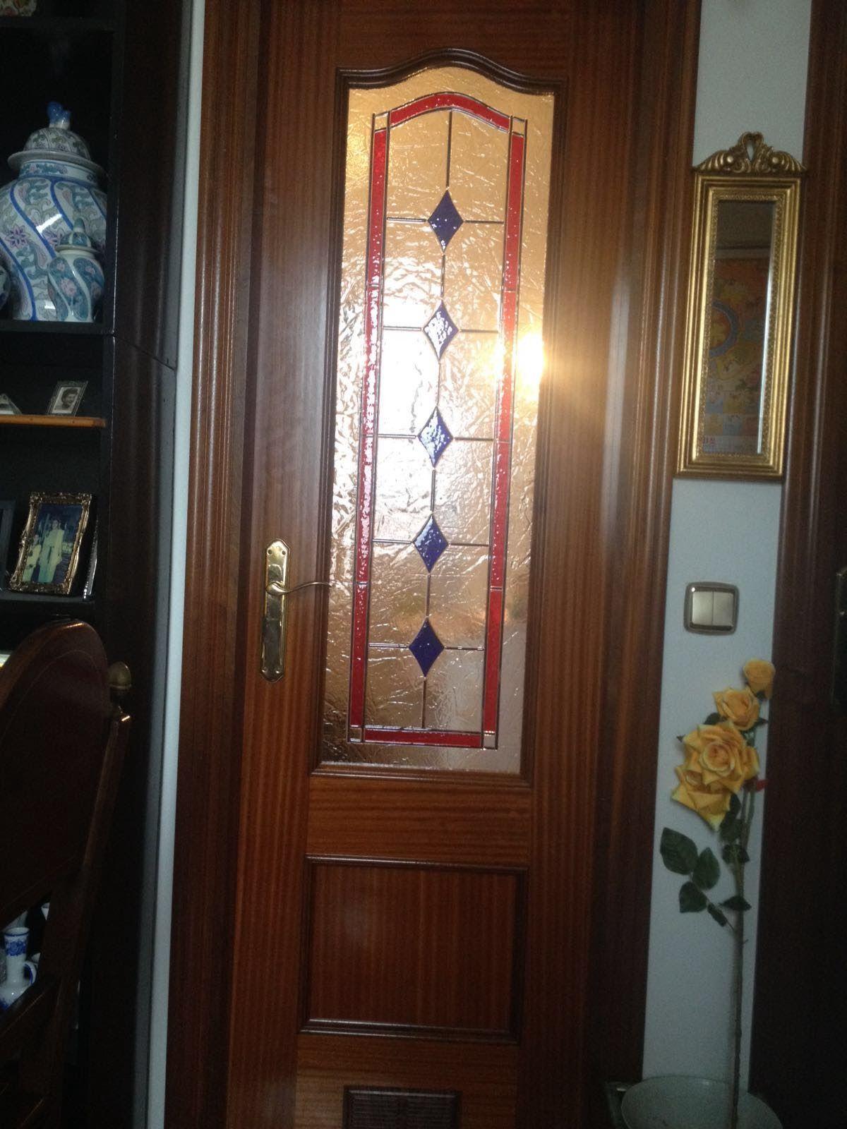 Decoración con cristal de puertas de interior