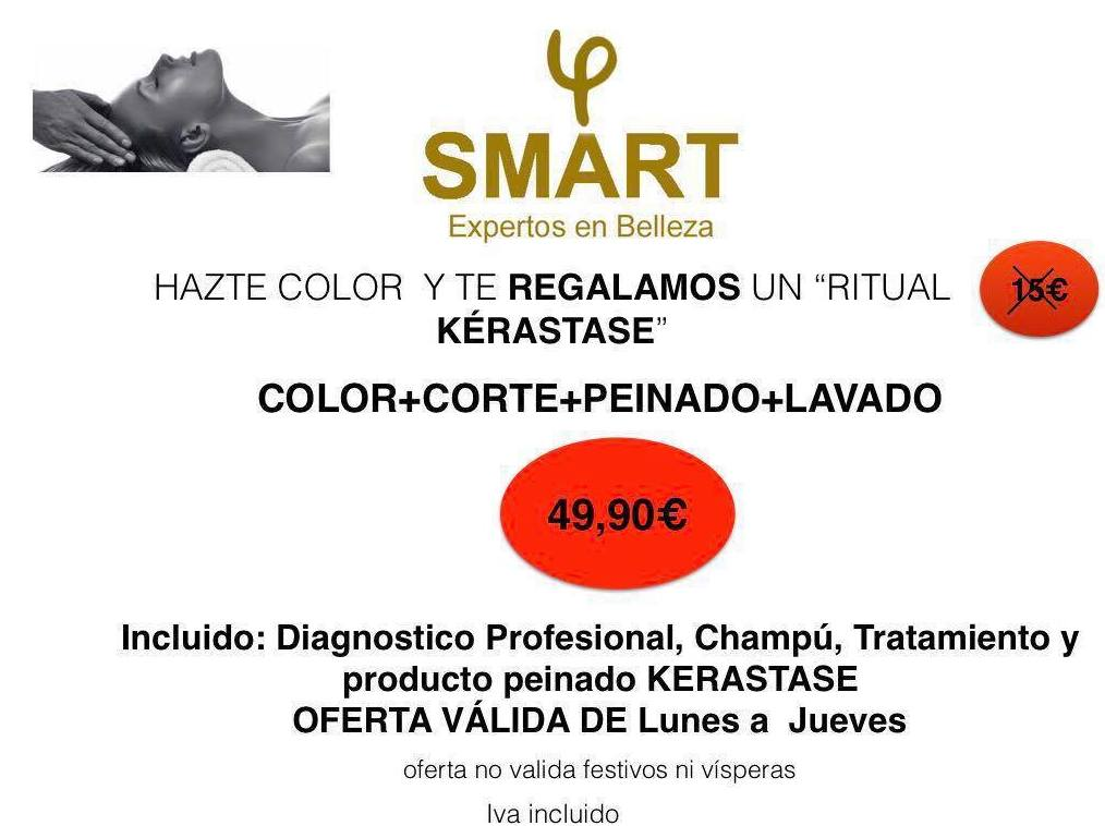 promoción color+corte+peinado SMART expertos belleza