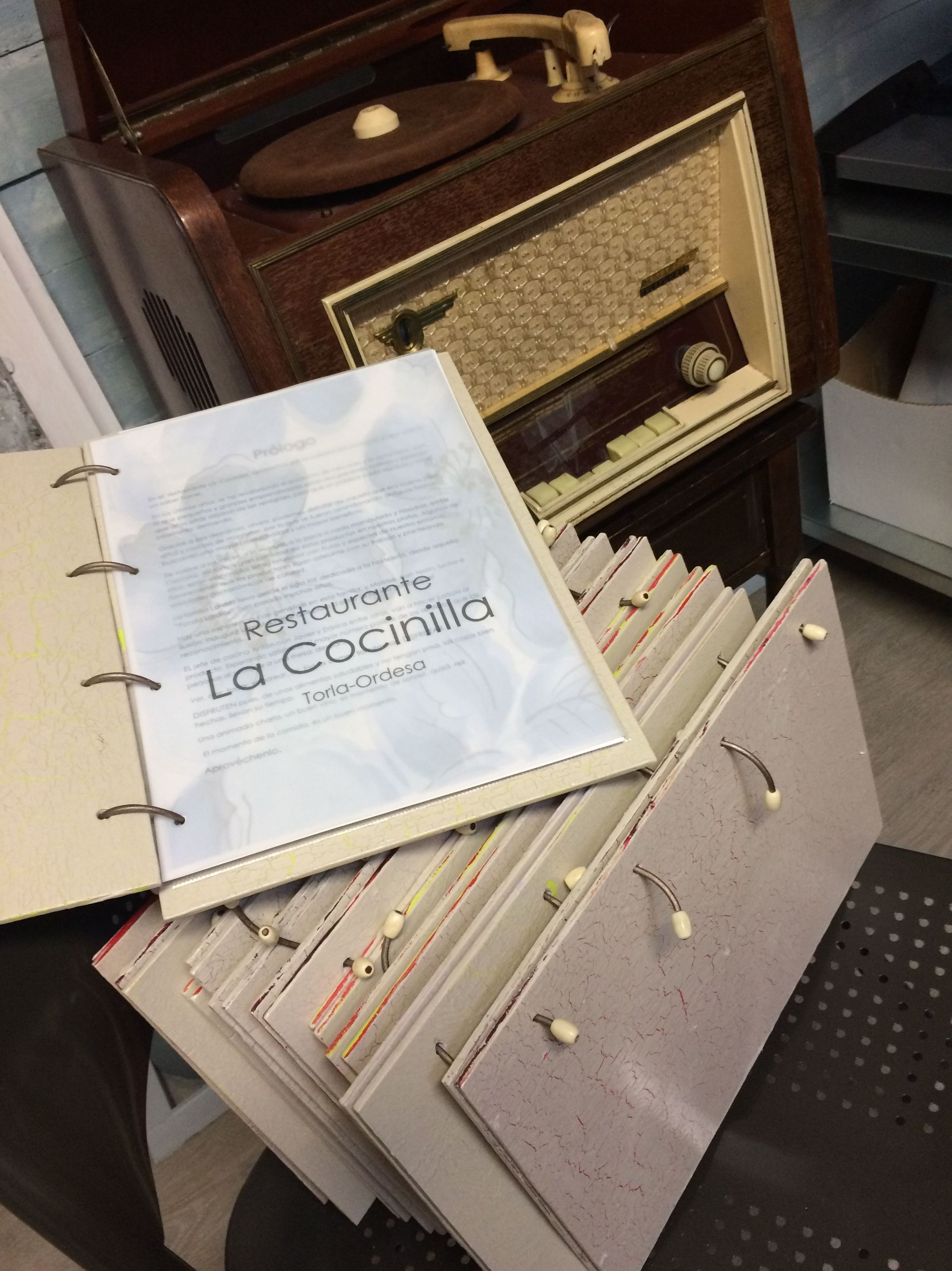 Cartas primavera-verano del Restaurante La Cocinilla.
