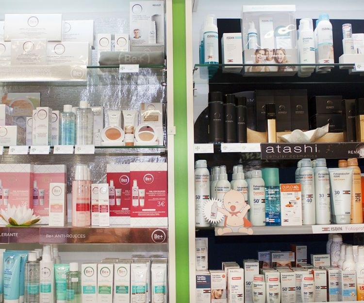 Productos de parafarmacia para el cuidado de la piel en Tui