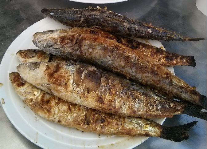 Sabrosas sardinas en Camariñas
