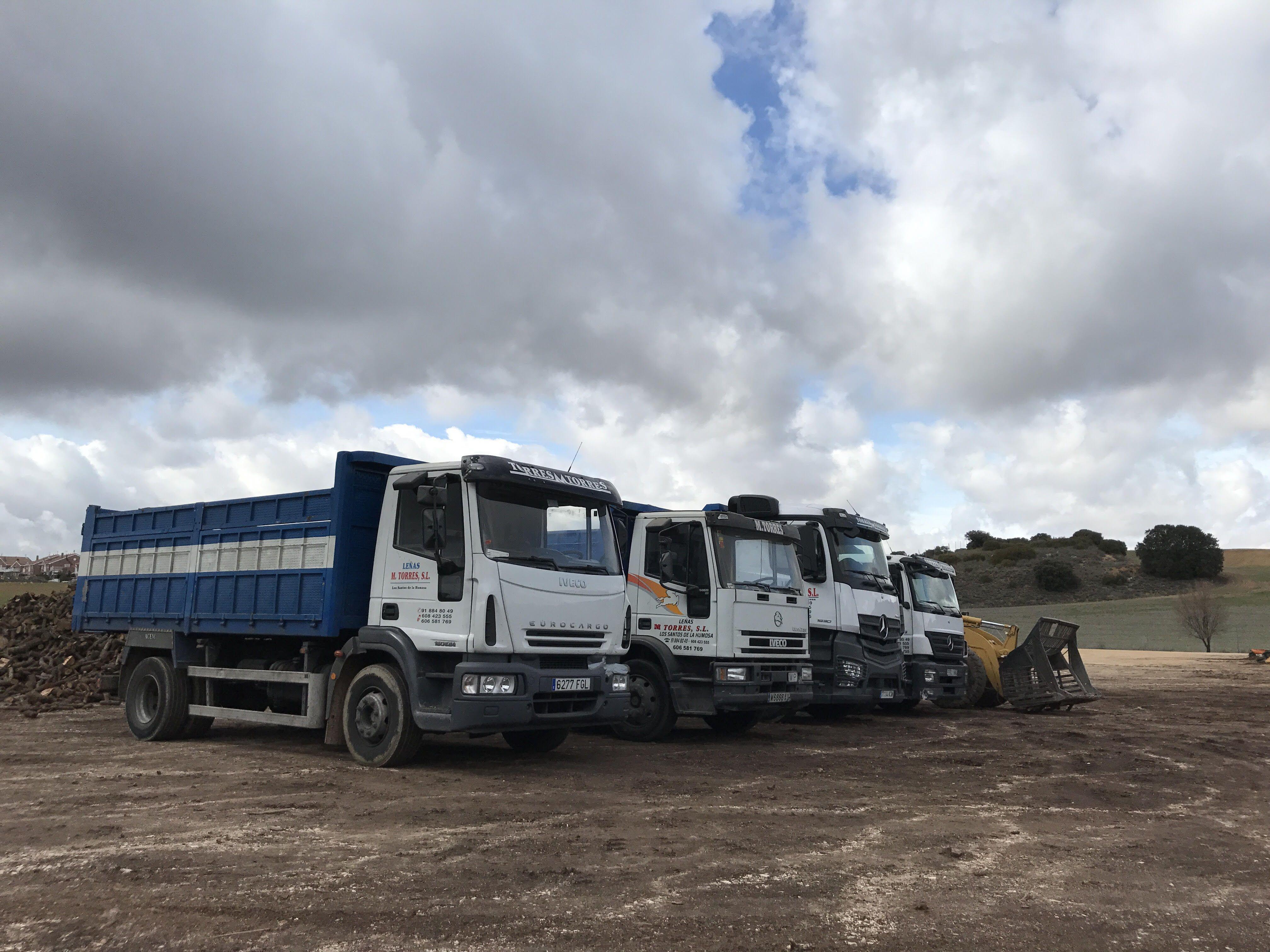 Distribución de leña de olivo en Madrid y Guadalajara