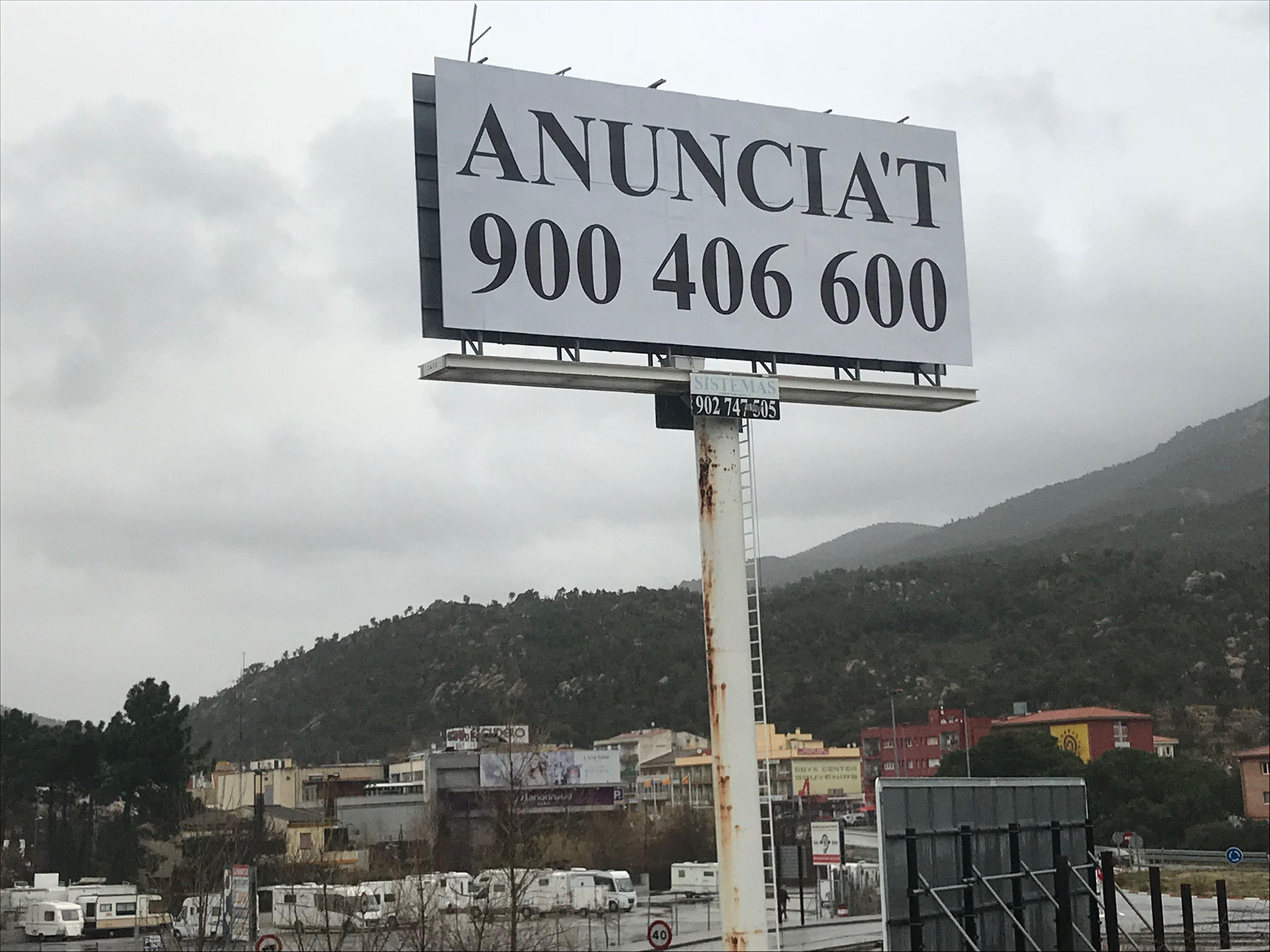 Instalación de soportes de publicidad en Cataluña