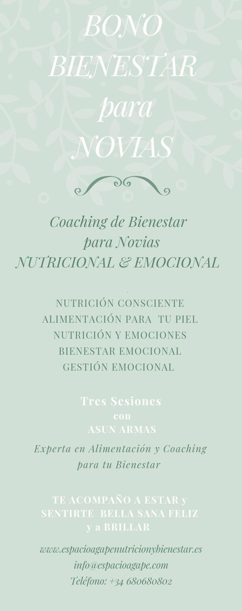 Wedding Coaching. Coaching Nutricional y Emocional para Novias Conscientes