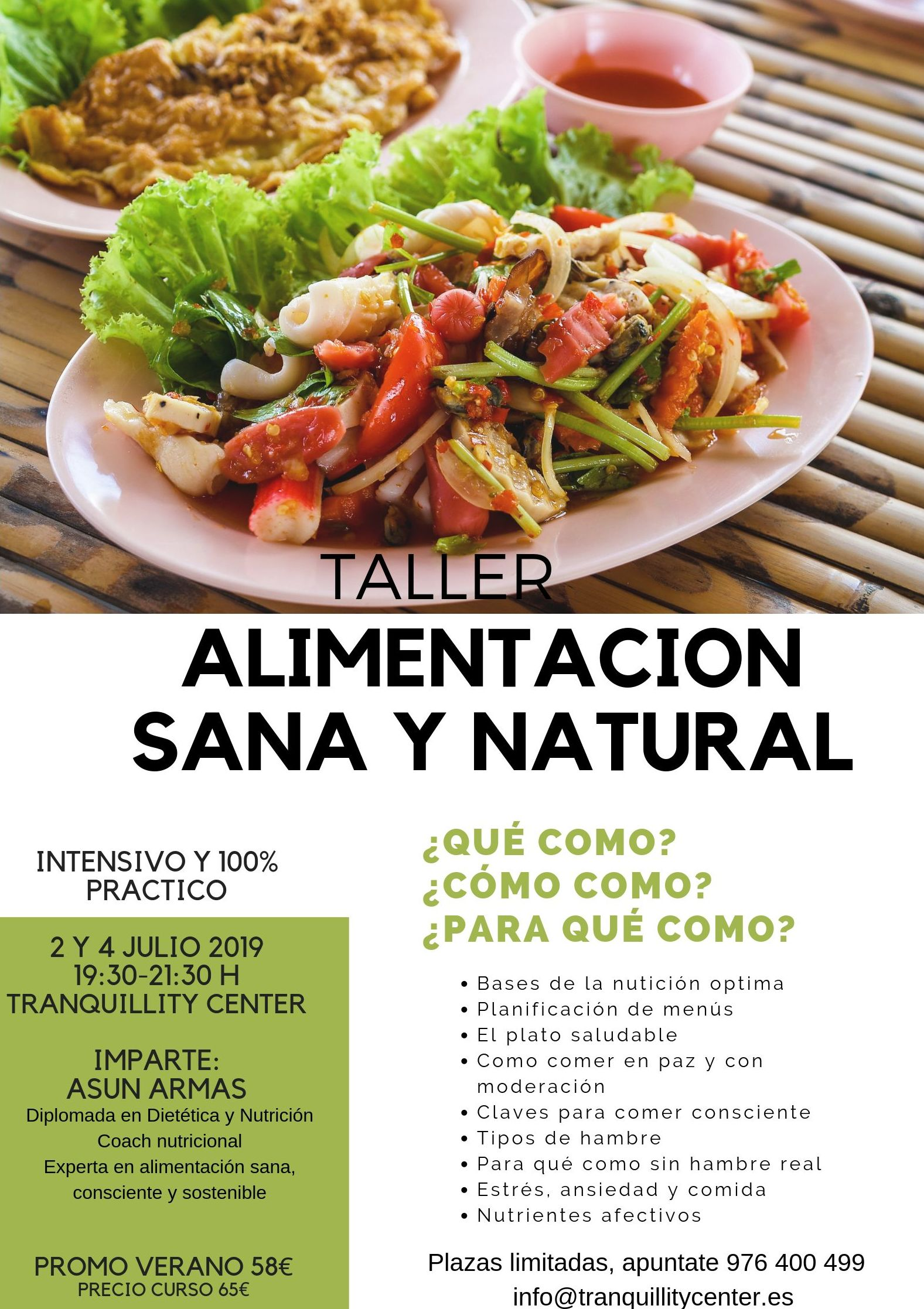 Taller Alimentación Consciente Zaragoza