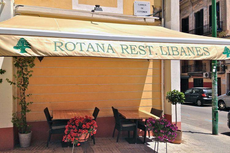 Fachada del restaurante libanés en Palma de Mallorca