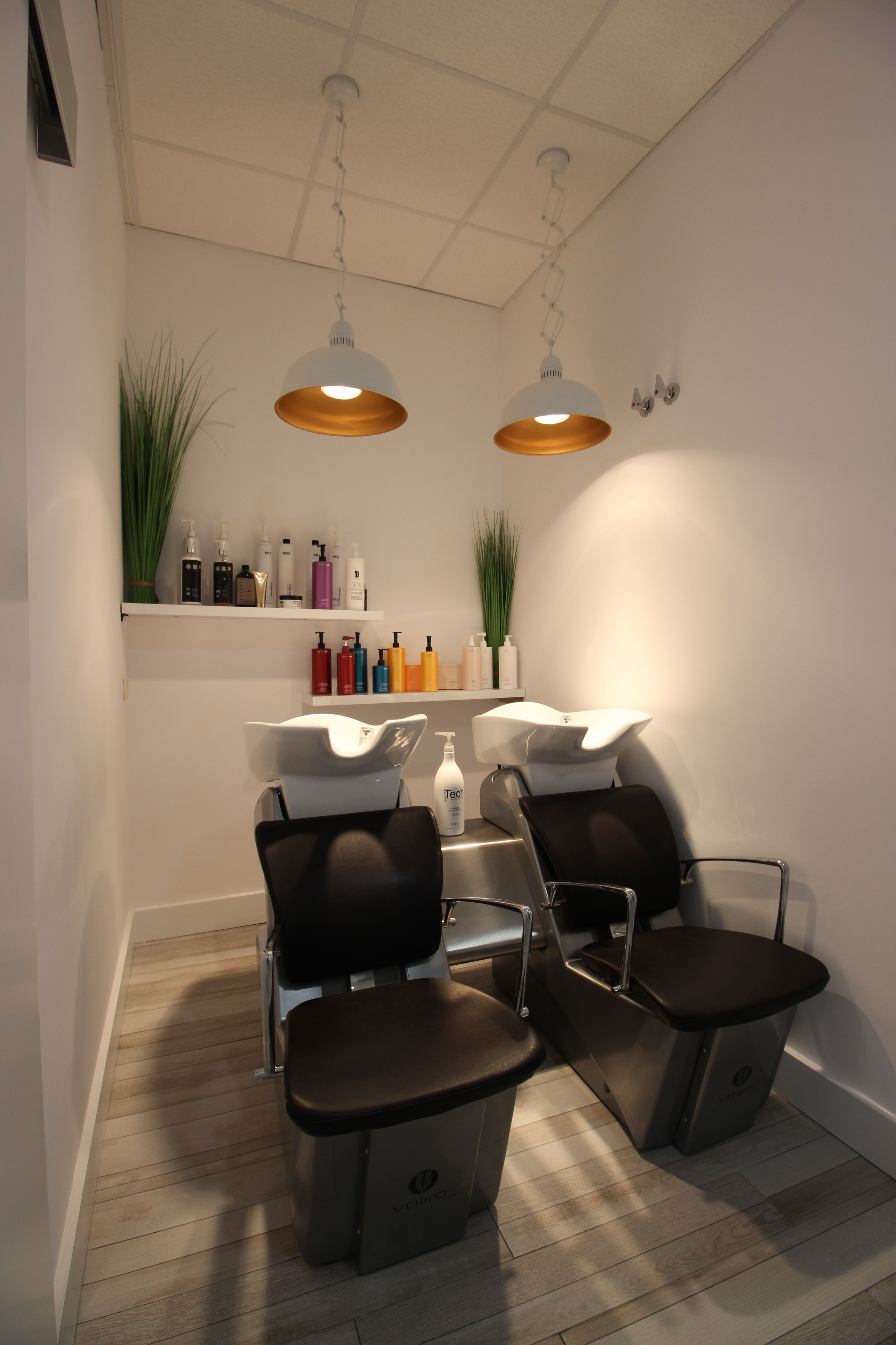 Zona para el lavado y cuidado del cabello
