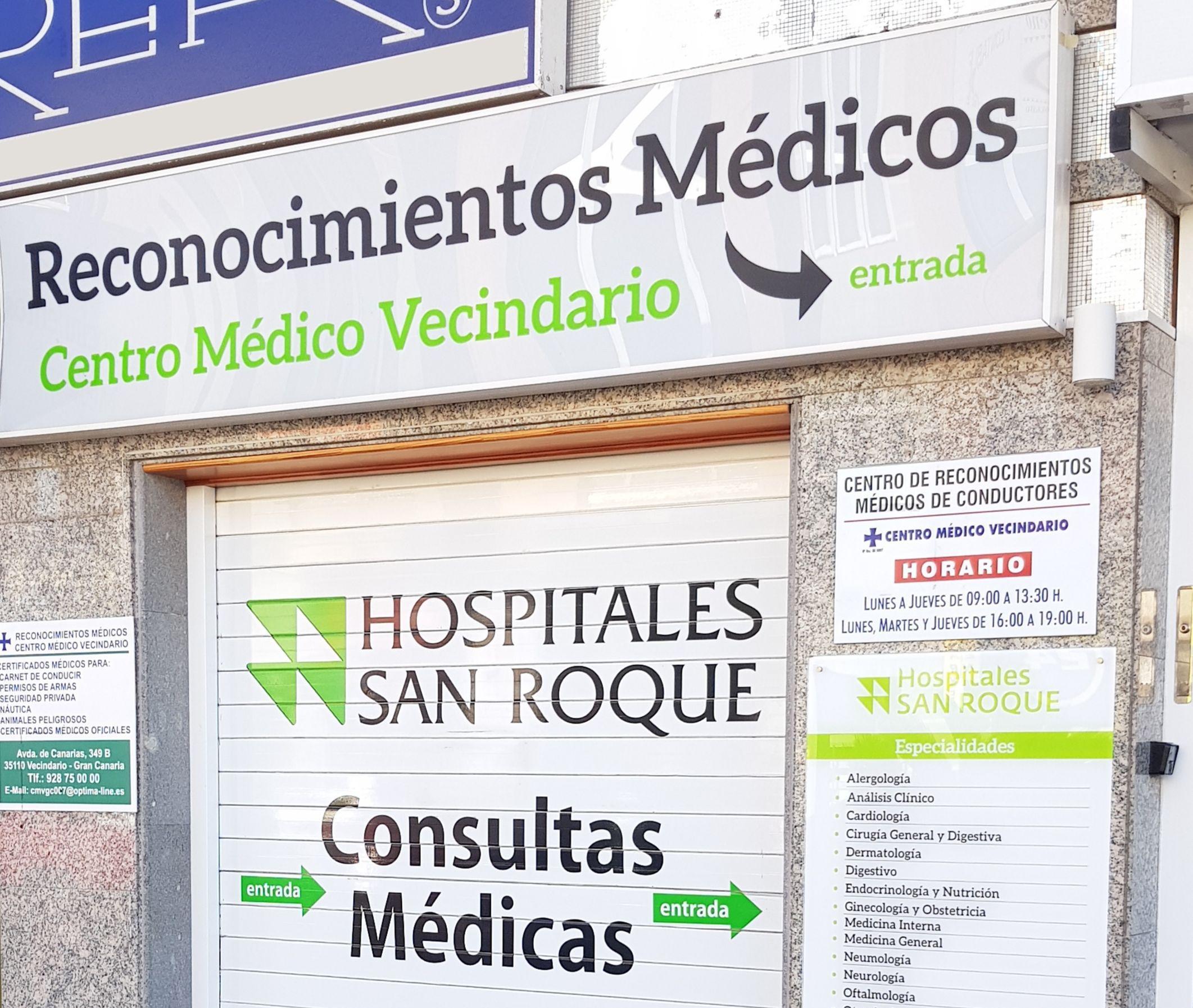 Reconocimientos médicos económicos en Vecindario, Gran Canaria