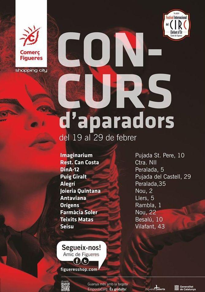 Les botigues de Figueres que participen al concurs d'aparadors pel festival del Circ. Ja heu vingut