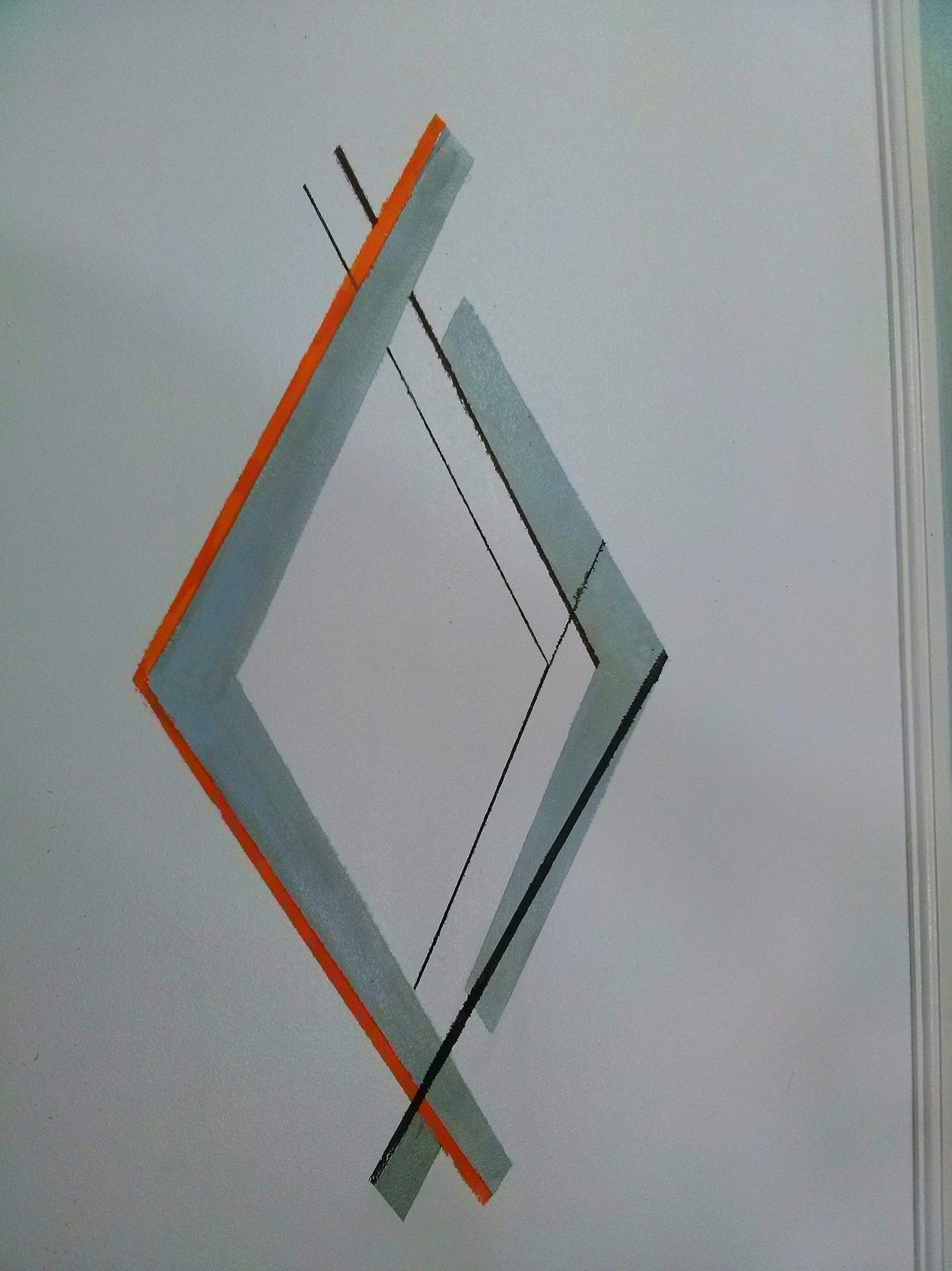 Detalle de una de las puertas del armario de tres cuerpos