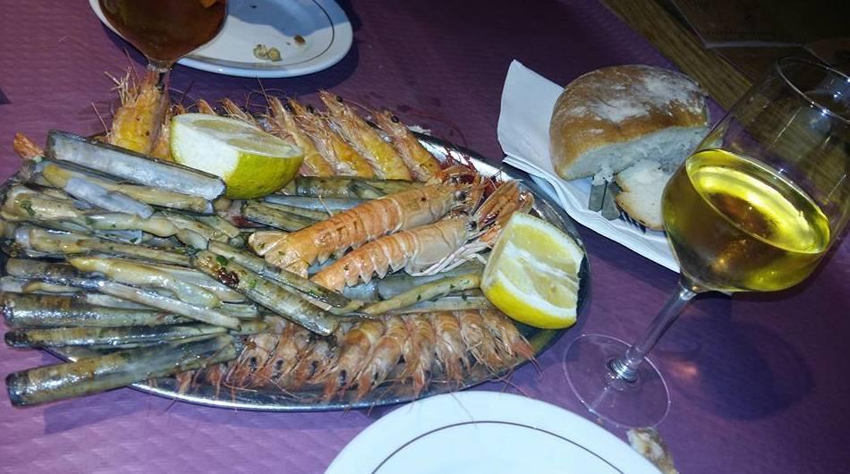 Mariscos a la plancha en Alcorcón